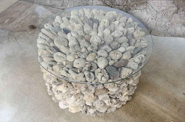 CLARA, Couchtisch Treibholz rund Alle Tische Couchtische