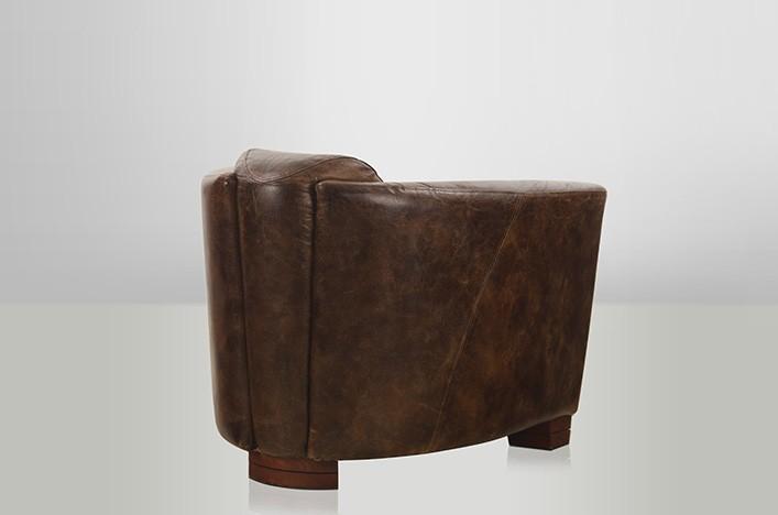 rokko ledersessel braun vintage sessel lederm bel sessel. Black Bedroom Furniture Sets. Home Design Ideas
