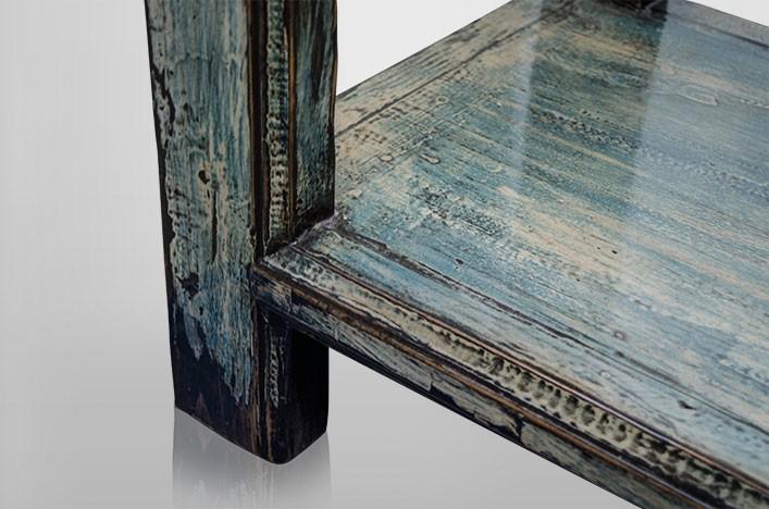 Kommoden Landhausstil Blau : Wandtisch vintage blau shabby Landhausstil, EinzelstückGröße: 160 ...