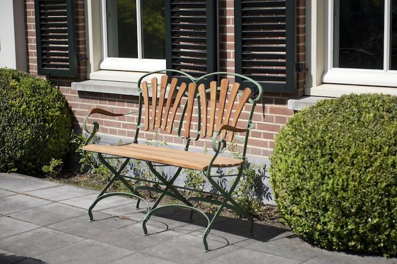 leonie gartenbank metall holz landhaus gartenm bel gartenbank. Black Bedroom Furniture Sets. Home Design Ideas