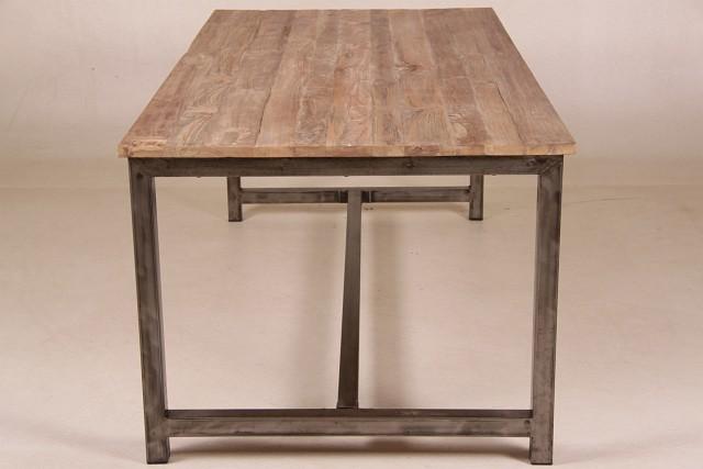 Tisch holz metall nina tisch holz metall alle tische for Esstisch tabea