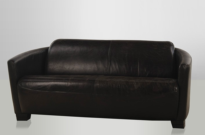 rokko ledersofa schwarz vintage lederm bel ledersofa. Black Bedroom Furniture Sets. Home Design Ideas