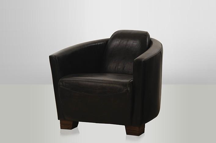 rokko vintage schwarzer ledersessel lederm bel sessel. Black Bedroom Furniture Sets. Home Design Ideas