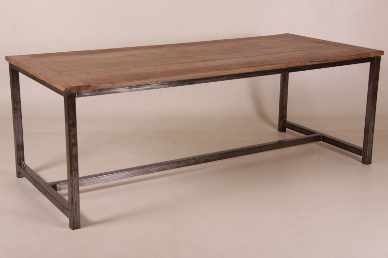 Esstisch Holz Metall Design ~ NINA, Tisch Holz Metall Industriedesign Esstische