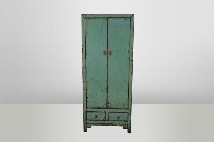 vintage schrank blau interessante ideen f r. Black Bedroom Furniture Sets. Home Design Ideas