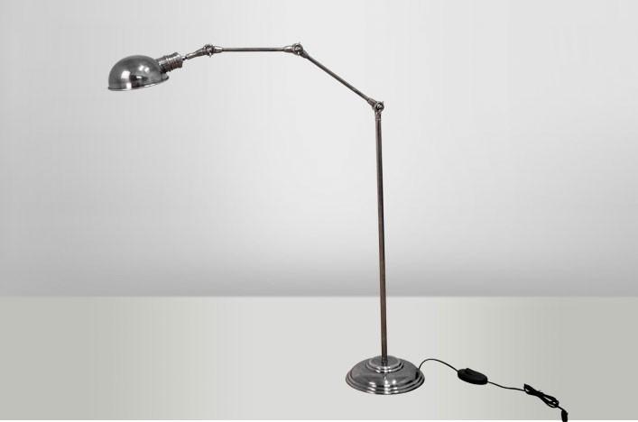 Nora stehlampe silber antik leselampe lampen stehlampe for Leselampe stehlampe
