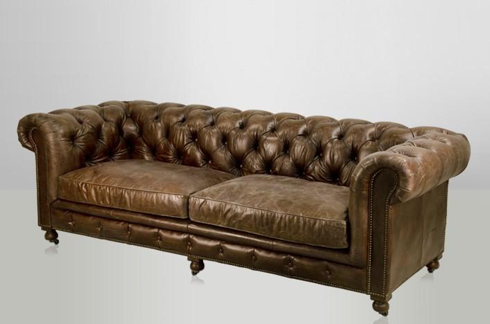 ken chesterfield ledersofa braun antik lederm bel sofa. Black Bedroom Furniture Sets. Home Design Ideas