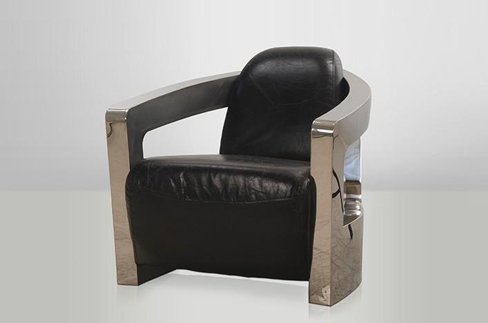 marsy ledersessel schwarz metall armlehnen lederm bel sessel. Black Bedroom Furniture Sets. Home Design Ideas