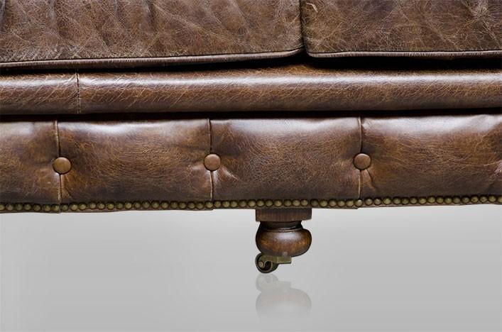 ken ledersofa chesterfield braun 3er leder m bel sofa. Black Bedroom Furniture Sets. Home Design Ideas