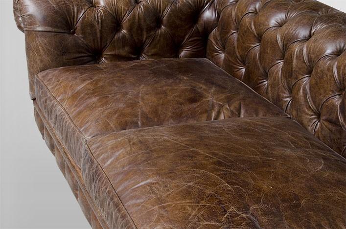 Ledersofa Braun : KEN, Chesterfield Ledersofa braun antik Leder Möbel Sofa