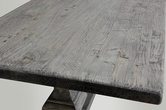 Esstisch vintage grau for Esszimmertisch holz grau