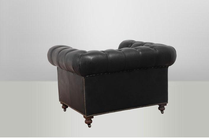 ken schwarzer ledersessel chesterfield lederm bel sessel. Black Bedroom Furniture Sets. Home Design Ideas