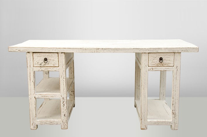 tonja schreibtisch altholz wei b ro laden schreibtisch. Black Bedroom Furniture Sets. Home Design Ideas