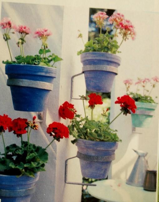 Gartenmobel Polyrattan Lounge : Metall Blumentopfhalter für die Wand Gartenmöbel Dekoration