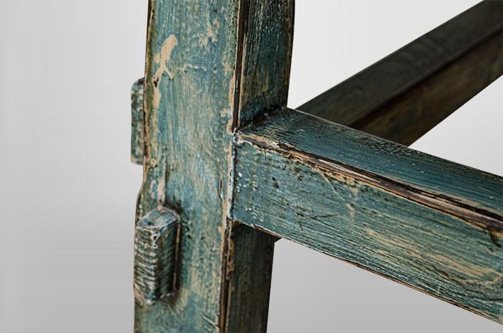 BELLA, Couchtisch blau shabby Hochglanz Alle Tische