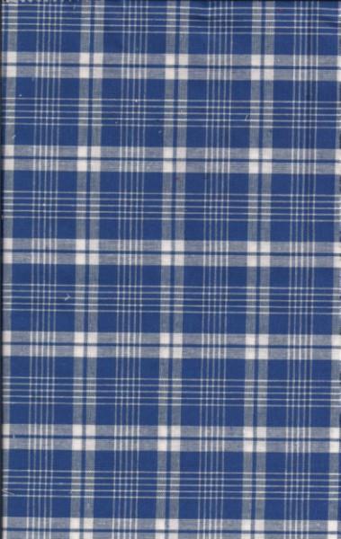 LIVING, karierte Bettwäsche blau weiß Textil Bettwäsche