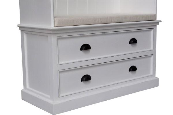 freya wei e garderobe mit sitzbank landhausm bel schrank. Black Bedroom Furniture Sets. Home Design Ideas