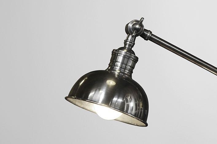 fort schreibtischlampe antik silber metall lampen stehlampe. Black Bedroom Furniture Sets. Home Design Ideas