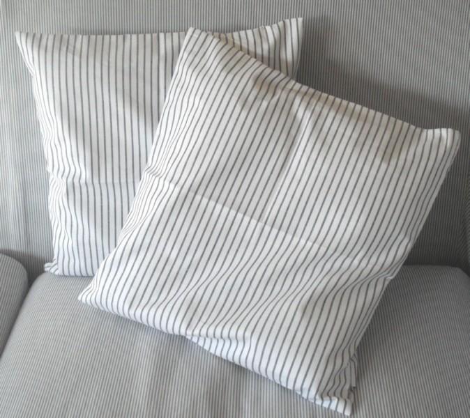 gestreifte bettbez ge m belideen. Black Bedroom Furniture Sets. Home Design Ideas