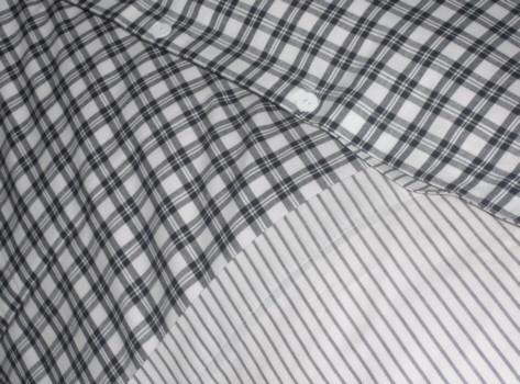 NORA, Wendebettwäsche schwarz kariert Textil Bettwäsche