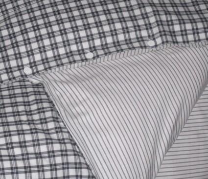 nora karierte bettw sche wende kariert schwarz grau gestreift textil bettw sche. Black Bedroom Furniture Sets. Home Design Ideas