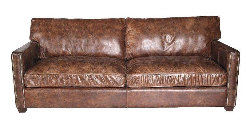 Ledersofa Braun : WILLIAM, Ledersofa braun Leder Möbel Sofa